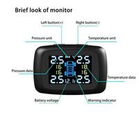 SF320 TPMS with 4 External Sensors, Cigarette Lighter Plug LCD Display